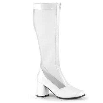 Mesh Boots GOGO-307 - Patent White