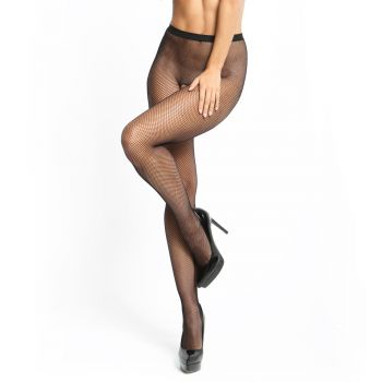Small Mesh Fishnet Tights P101 Crotchless - Black*