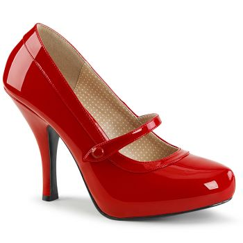 Mary Janes PINUP-01 - Patent Red