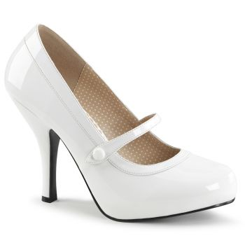 Mary Janes PINUP-01 - Patent White