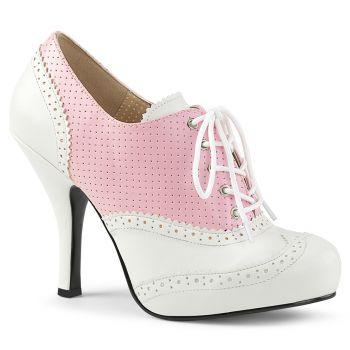 Lace Up Front Pumps CUTIEPIE-14 - Pink/White