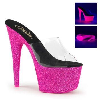 Platform High Heels ADORE-701UVG - Neon Pink