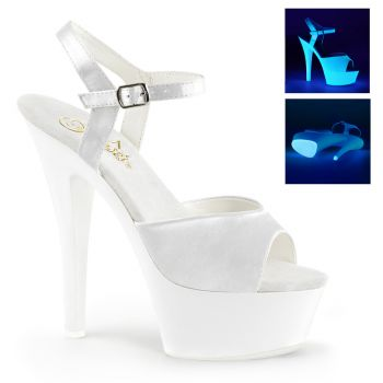 Platform High Heels KISS-209UV - Neon White