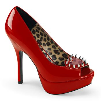 Platform Peep Toes PIXIE-17 - Patent Red