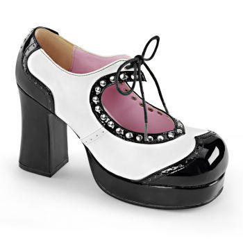 Platform Pumps GOTHIKA-10 - Black/White