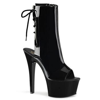 Platform ankle boots ASPIRE-1018 - Patent Black