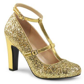 Glitter Pumps QUEEN-01 - Golden