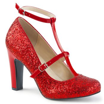 Glitter Pumps QUEEN-01 - Red