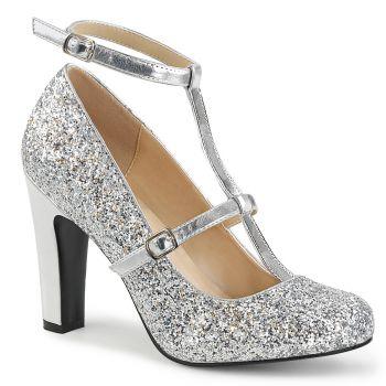 Glitter Pumps QUEEN-01 - Silver