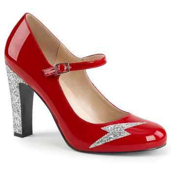 Mary Jane Pumps QUEEN-02 - Patent Red