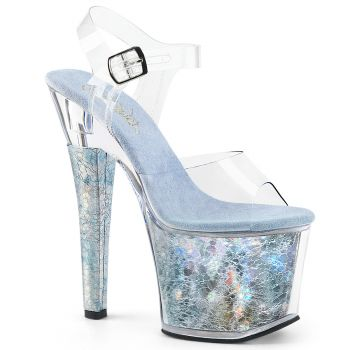Platform High-Heeled Sandal RADIANT-708THG - Baby Blue
