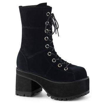 Gothic Platform Boots RANGER-301 - Velvet Black