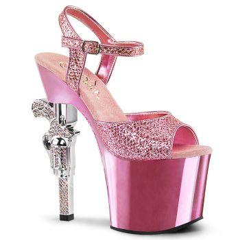 Platform High Heels REVOLVER-709G - Baby Pink