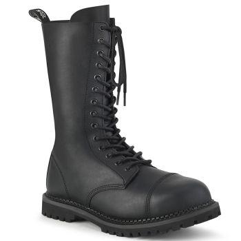 Boots RIOT-14 - Faux Leather (Vegan) Black