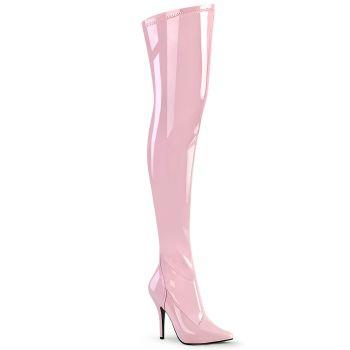 Overknee Boot SEDUCE-3000 - Patent Baby Pink