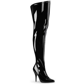 Overknee Boots SEDUCE-3000WC (Wide Shaft) - Patent Black