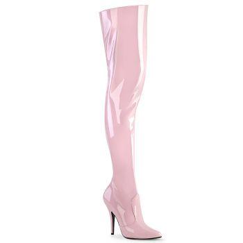 Overknee Boot SEDUCE-3010 - Patent Baby Pink*