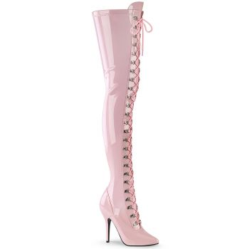 Overknee Boots SEDUCE-3024 - Patent Baby Pink