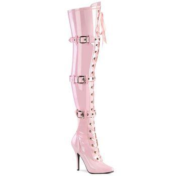 Overknee Boot SEDUCE-3028 - Patent Baby Pink