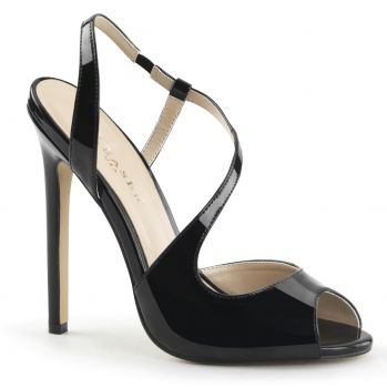 High-Heeled Sandal SEXY-10 - Patent black