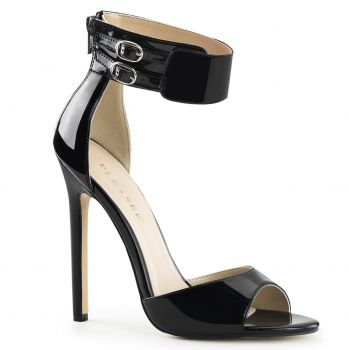 Stiletto Sandal SEXY-19 - Patent black