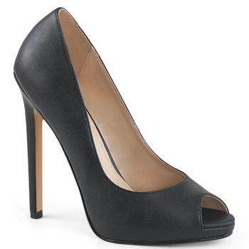 Stiletto Peep Toes SEXY-42 - PU Black