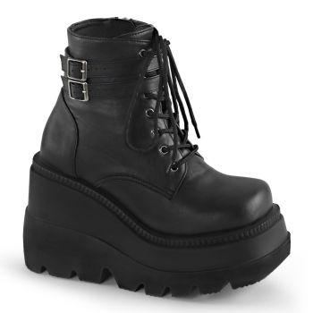 Platform Ankle Boots SHAKER-52 - PU Black