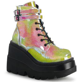 Platform Ankle Boots SHAKER-52 - Pink Shifting Glitter