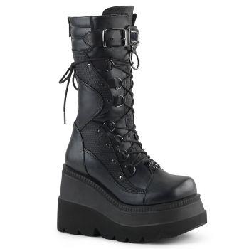 Gothic Platform Boots SHAKER-70 - Black
