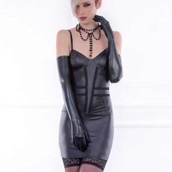 Wet Look Strap Dress SHERBROOKE