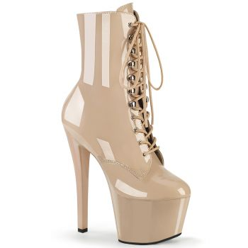 Platform Ankle Boots SKY-1020 - Patent Nude