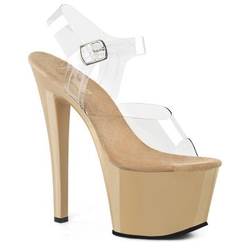 Platform High Heels SKY-308 - Cream