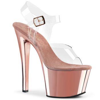 Platform High Heels SKY-308 - Rose Chrome