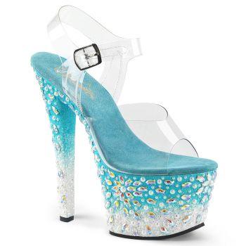 Platform High Heels SKY-308FISH - Aqua