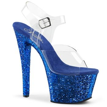 Platform High Heels SKY-308LG - Blue