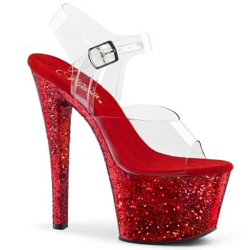 Platform High Heels SKY-308LG - Red