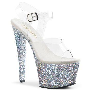 Platform High Heels SKY-308LG - Silver