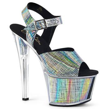Platform High Heels SKY-308N-CRHM - Black Hologram
