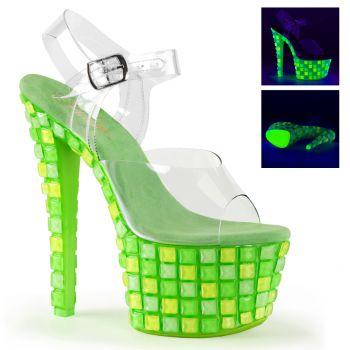Neon Platform Sandals SKY-308UVTL - Green