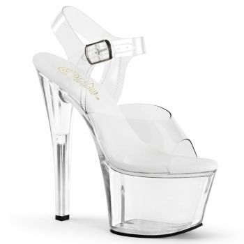 Platform High Heels SKY-308VL - Clear