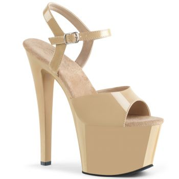 Platform High Heels SKY-309 - Patent Cream