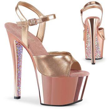 Platform Sandal SKY-309TTG - Rose Golden Metallic