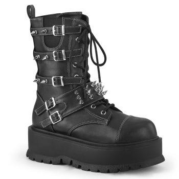 Gothic Platform Boots SLACKER-165 - Black