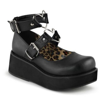 Platform Mary Jane SPRITE-02 - Faux Leather Black