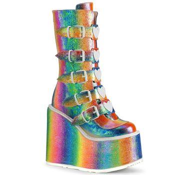 Platform Boots SWING-230G - Rainbow Iridescent