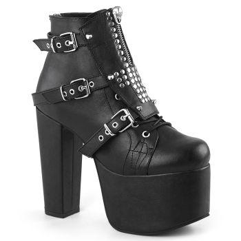 Gothic Platform Ankle Boots TORMENT-713 - Black