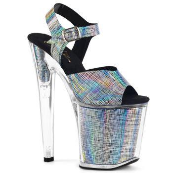 Extreme Platform Heels XTREME-808N-CRHM - Black Hologram