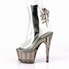 Platform Ankle Boots ADORE-1018CT - Clear / smoke