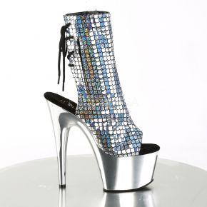 Platform Ankle Boots ADORE-1018MSC - Silver Hologram