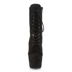 Faux Suede Platform Ankle Boot ADORE-1020FS - Black